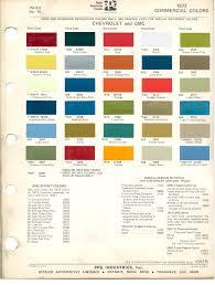 57 Chevy Color Chart 44 Factual Gm Paint Colors