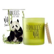 <b>Свеча ароматическая AMBIENTAIR Panda</b> Бамбуковый Wild, 40 ч ...