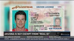'real Arizona Exempt Is Not From Id'