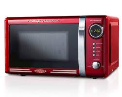 nostalgia rmo770red retro countertop microwave oven