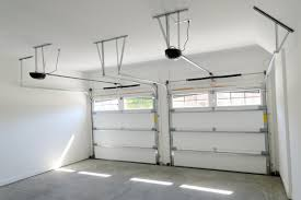 sliding garage doorsDecorations  Wall Mount Side Sliding Garage Doors In White Tone