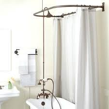 clawfoot bathtub shower kit rim mount tub hand shower kit swing arms d style shower showers clawfoot bathtub shower