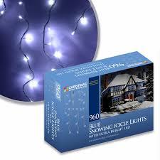 outdoor xmas lighting. 960 blue led icicle christmas lights indoor outdoor xmas lighting 8 light modes amazoncouk e