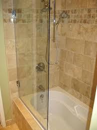 frameless glass bathtub doors inspiring tub shower sliding
