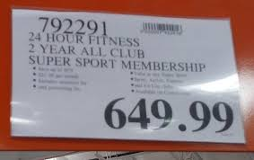 deal for a 24 hour fitness 2 year all club super sport membership at costco
