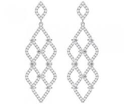 swarovski lace chandelier pierced earrings 5382358 white brilliant crystal pavé rhodium plating