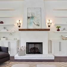 fireplace wall sconces. fireplace with floating shelves wall sconces a