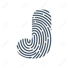 Fingerprint Design J Letter Line Icon Vector Fingerprint Design Detective Audit