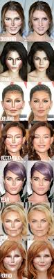 face cutting makeup of diffe types of face shapes