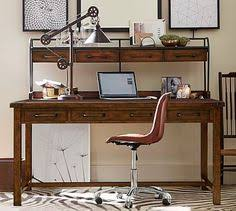office furniture pottery barn. Simple Pottery Hendrix Small Smart Technology Desk  Pottery Barn  I Like This Rustic  Desk For Office And Has A Plug Built Into The Laptop Furniture  In Office 1