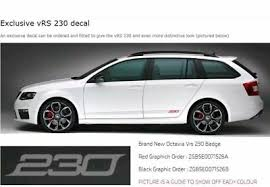 Skoda Fabia Colour Chart 2x Red Skoda Octavia Vrs 230 Graphics Decal Stickers Other