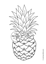 Free printable fruit coloring pages. Pineapple Fruits Coloring Pages For Kids Printable Free Page Fruit Apple Colouring Mango Tures Basket Lemon Vegetable Peach Oguchionyewu