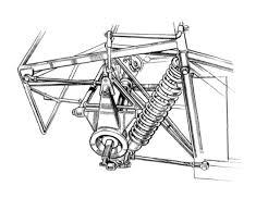 Diva independent rear welded hub carrier transverse wishbones and watt's linkage