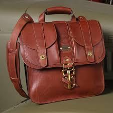 37 leather satchel vintage brown