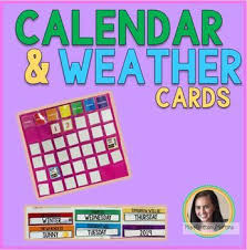 Calendar And Weather Pocket Chart Calendar And Weather Pocket Chart Cards