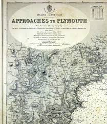 Nautical Charts New England Coast England South Coast Approaches To Plymouth Antique