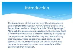 thesis statement 13 introductionthe importance of the journey