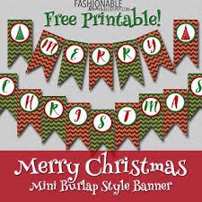 My Fashionable Designs Free Printable Burlap Merry