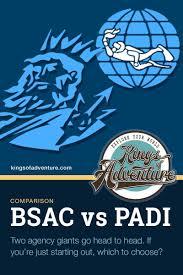 Bsac Vs Padi Qualifications Comparison Chart All Agencies