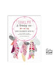Dream Catcher Baby Shower Invitations