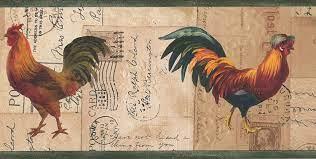 Postkarte Wallpaper Border Retro-Design ...