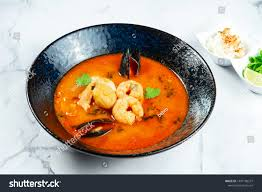 Vietnamese Tom Yum Soup Seafood Red ...