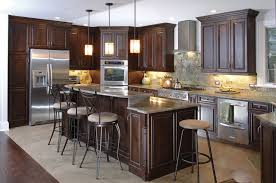 custom kitchen cabinets chicago.  Kitchen Custom Kitchen Cabinets Espresso Finish Raised Panel Frameles Cabinets For Chicago N