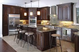 custom kitchen cabinets espresso finish raised panel frameles cabinets