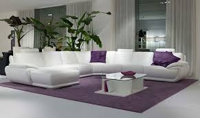 ... Beautiful Couches Delightful 18 Beautiful White Modern Minimalist Style  Best Sofa Purple Cushion ...