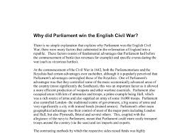 why did parliament win the english civil war a level history document image preview
