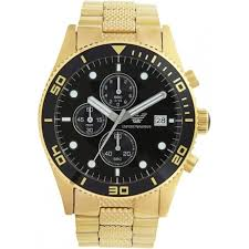 mens armani watches from ticwatches co uk emporio now on ar5857 gold stainless mens watch pvd gold plate