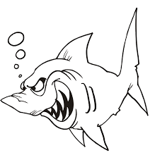 Small Picture Shark Coloring Page Shark Ready To Attack