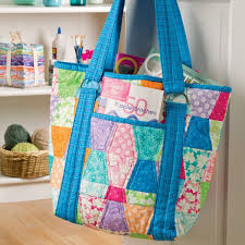 Tote Bag Sewing Pattern Magnificent Patchwork Tumbler Tote Free PDF Pattern PatternPile Sew
