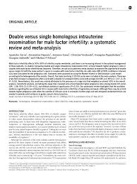 Pdf Should An Intrauterine Insemination With Donor Semen Be