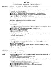 Planning Assistant Resume Samples Velvet Jobs