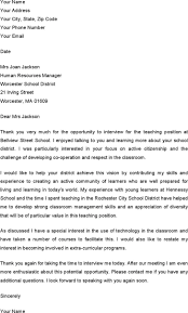 Thank You Letters After Teaching Interview Download Thank You Email After Teacher Interview For Free