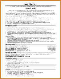 7 Resume For Elementary Teacher Job Apply Letter