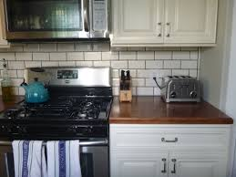 Black White Kitchen Tiles Remarkable Subway Tiles In Kitchen With White Kitchen Island And