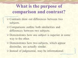 writing the comparison and contrast essay moon over manifest what is the purpose of comparison and contrast