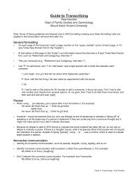 Guide To Transcribing Mount Saint Vincent University