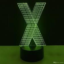 2019 New X Letter Shape 3d Illusion Led Lamp Letters Decoration Lamp