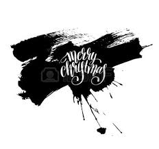merry christmas black and white script. Interesting White Merry Christmas Black And White Handwritten Lettering Inscription Holiday  Phrase On Brush Stroke Spot Pattern Intended Merry Christmas Black And White Script W