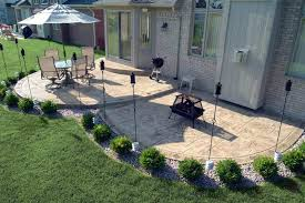 backyard concrete patio designs stamped