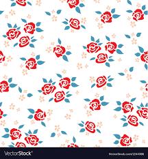 Rose Pattern Unique Rose Pattern Royalty Free Vector Image VectorStock