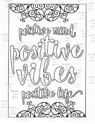 Positive Printable Adult Mandala Coloring Page