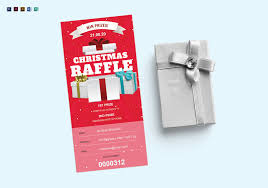 Design Raffle Ticket Christmas Raffle Ticket Design Template In Psd Word Publisher