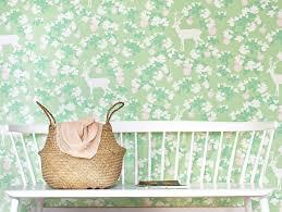 wallpaper apple garden mint green
