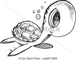 Small Picture Vector Clipart of Doodle Sketch Sea Turtle Vector Cute Doodle