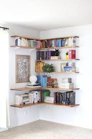 DIY Corner Floating Shelves by Shanty2Chic