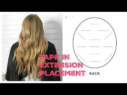 Tape In Extension Placement Blending And Styling Youtube